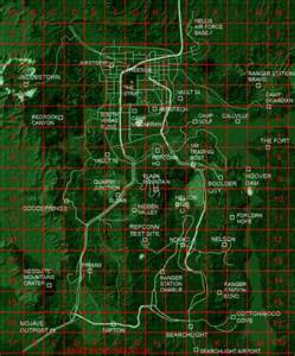 Fallout Las Vegas Map.Fallout New Vegas Map Mr Patatoheadgaming